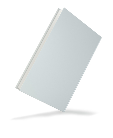 notebook: Blank hardcover book for design isolated on white background. 3d rendering. Stock Photo