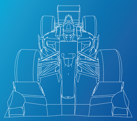 Abstract drawing of a race car.