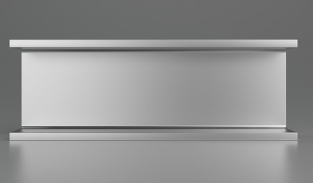 Rolled metal products or steel products. 3d rendering