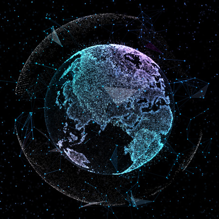Earth, representing global network connection, international meaning. 3d illustration Stock Photo