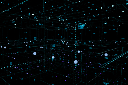 Big data complex. Graphic abstract background communication. Digital data dots visualization. 3d illustration