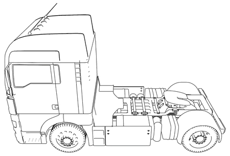 Modern Cargo Truck illustration