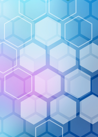 Abstract colorful background of hexagonal shapes in the form of honeycombs Stock Photo