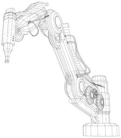 Industrial robot manipulator.
