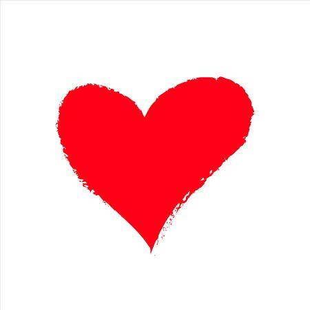 red vector heart icon, Valentine day, illustration vintage design element Vetores