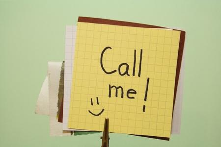 call me: Call me funny note