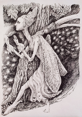 Elven fairy magical forest creature. photo