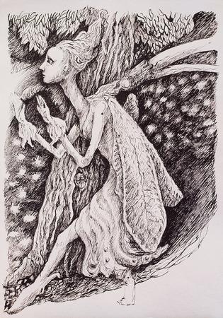 elven: Elven fairy magical forest creature.