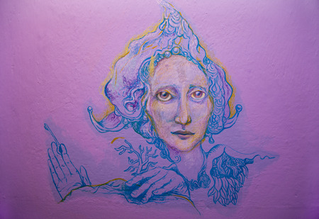 violett: Violett fairy keykeeper. Stock Photo