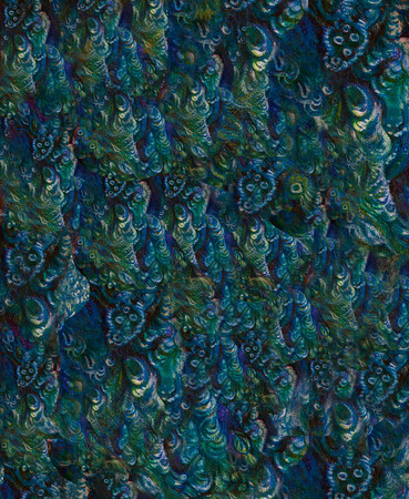 elemental: abstract colorful graphic background with elemental structures in blue and green.
