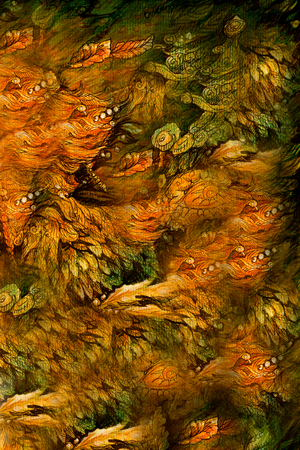 elemental: beautiful abstract background with natural fairy motives, illustration.