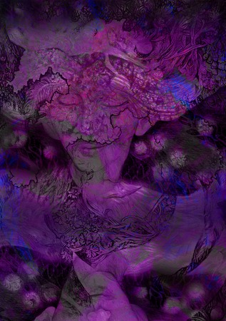newage: abstract deccorative violett background with lilac fairy.