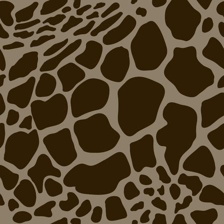 jirafa cartoon: Modelo inconsútil del vector con las pieles de jirafa