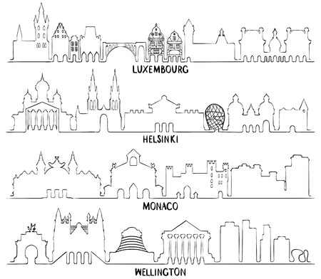 Luxemburg, Helsinki, Monaco en Wellington