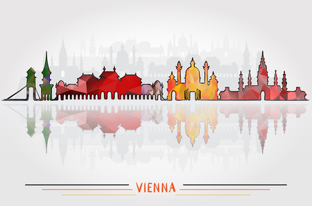 Vector Vienna City background 向量圖像