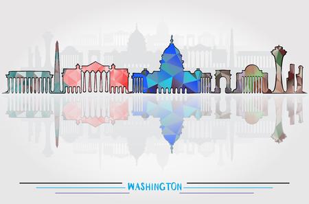 Vector Washington City background Illustration