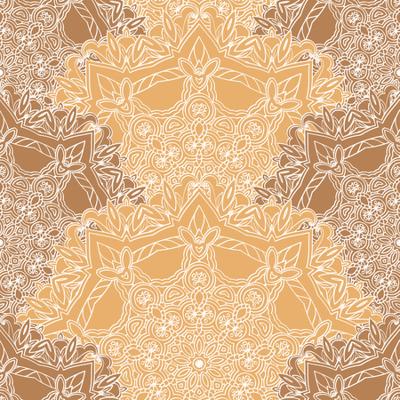 Lace seamless Pattern with circle details Illustration