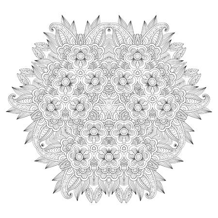Grafic round lace pattern