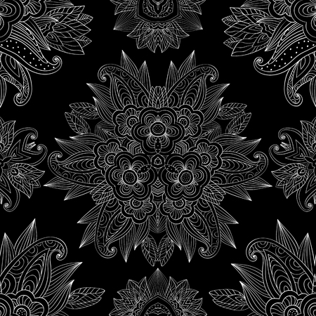 Seamless lacy arabesque background pattern