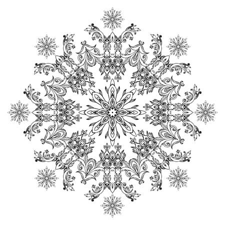 Round lace pattern Stock Photo