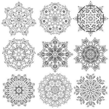 Set of Circular ornaments Illustration