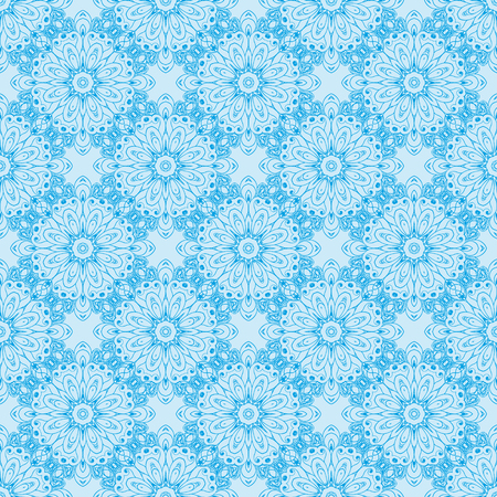 Pattern with floral circular ornaments vector illustration 向量圖像