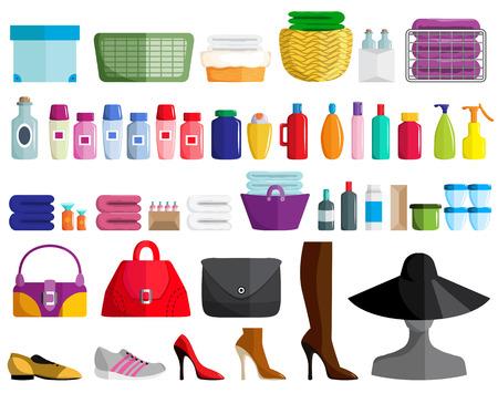 Set of female accessories