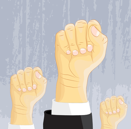Power and freedom expression, fist vector Illustration