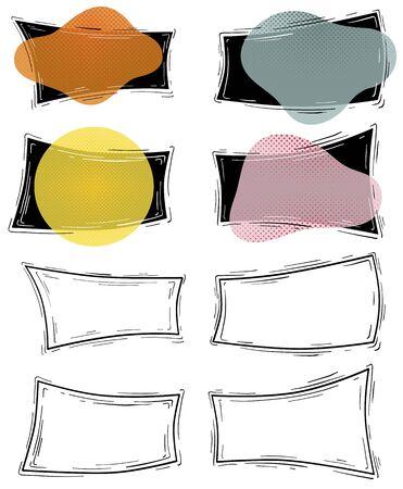 Set of geometric borders, frames, templates, design