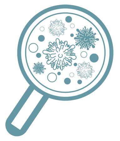 COVID-19 pandemic, Coronavirus Bacteria design Ilustracja