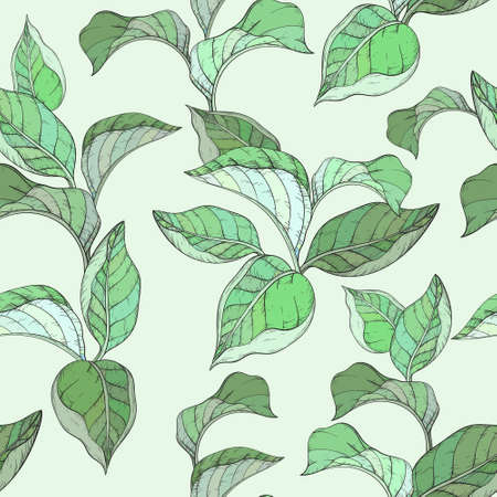 Seamless pattern with forest leafs. Иллюстрация