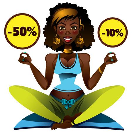 tantra: Sport girl doing yoga on the mat.