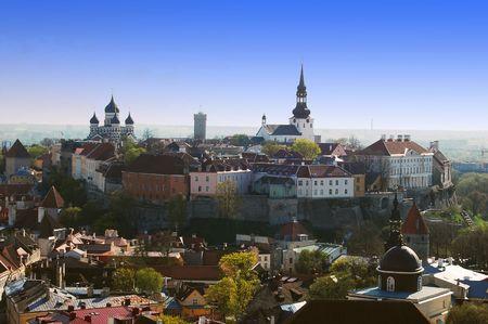 Bird's view on the old Tallinn