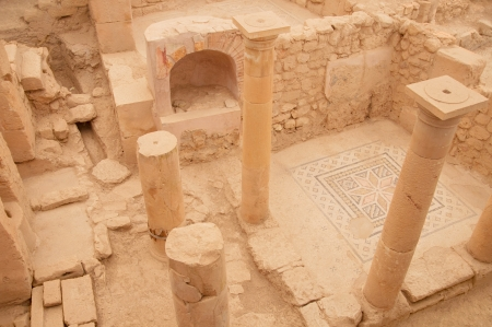 uninterrupted: Ancient city Zeugma in Turkey located near Gaziantep and by the river Euphrates Stock Photo