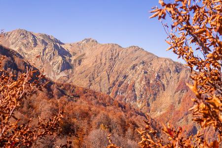krasnodar: Peaks of Caucasus mountains in Krasnodar Krai in Krasnaya Polyana