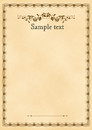 officially: Vector ornate frame. Easy to edit. Perfect for invitations or announcements.