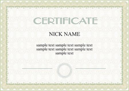 certificado: certificado, diploma para la impresi�n