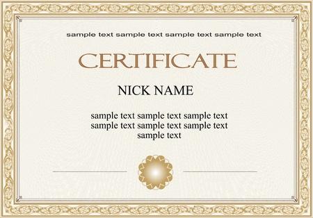 certificat diplome: certificat, dipl�me pour l'impression