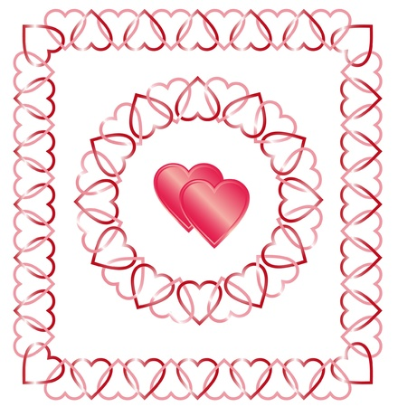 valentine background with heart Stock Vector - 11956071