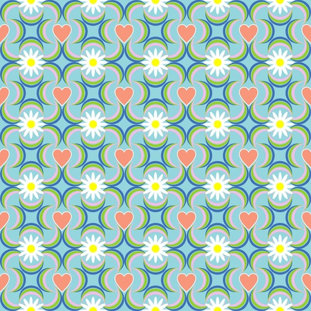 Valentines Day pattern with Hearts Vector
