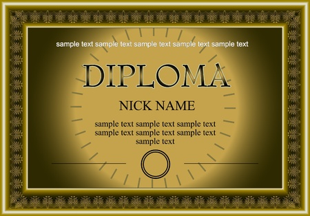 certificate, diploma for print Stock Vector - 11980154