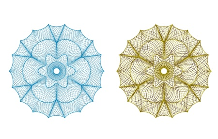 guilloche rosette, vector pattern for currency, certificate or diplomas Vector
