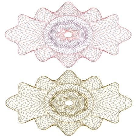 guilloche rozet, vector patroon voor valuta, certificaat of diploma's Vector Illustratie