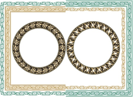 Vector ornate frame  Easy to edit  Perfect for invitations or announcements   Vector