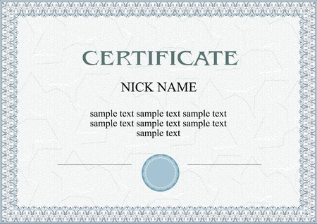 specification: certificate, diploma for print