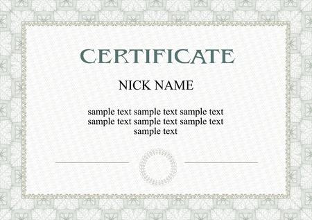 certification: certificado, diploma para la impresi�n