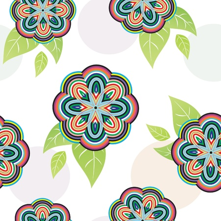 Floral vivid seamless pattern with colorful flowers  vector   Vector