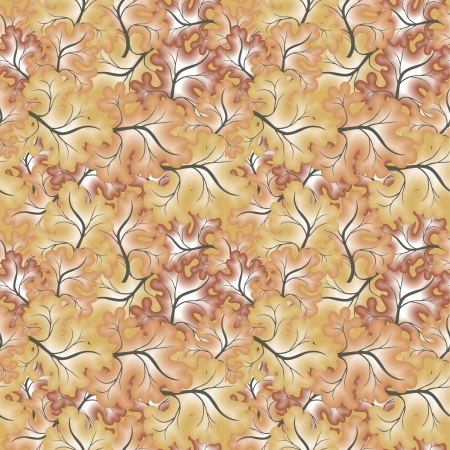 A seamless pattern with leaf  Vector