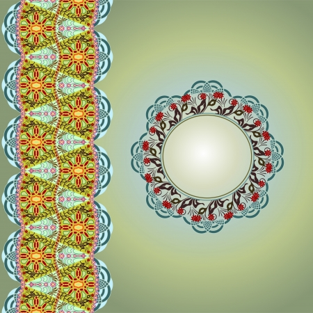 Ornamental round pattern abstract background