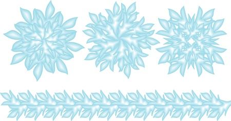 set of blue snowflakes Stock Vector - 14602249
